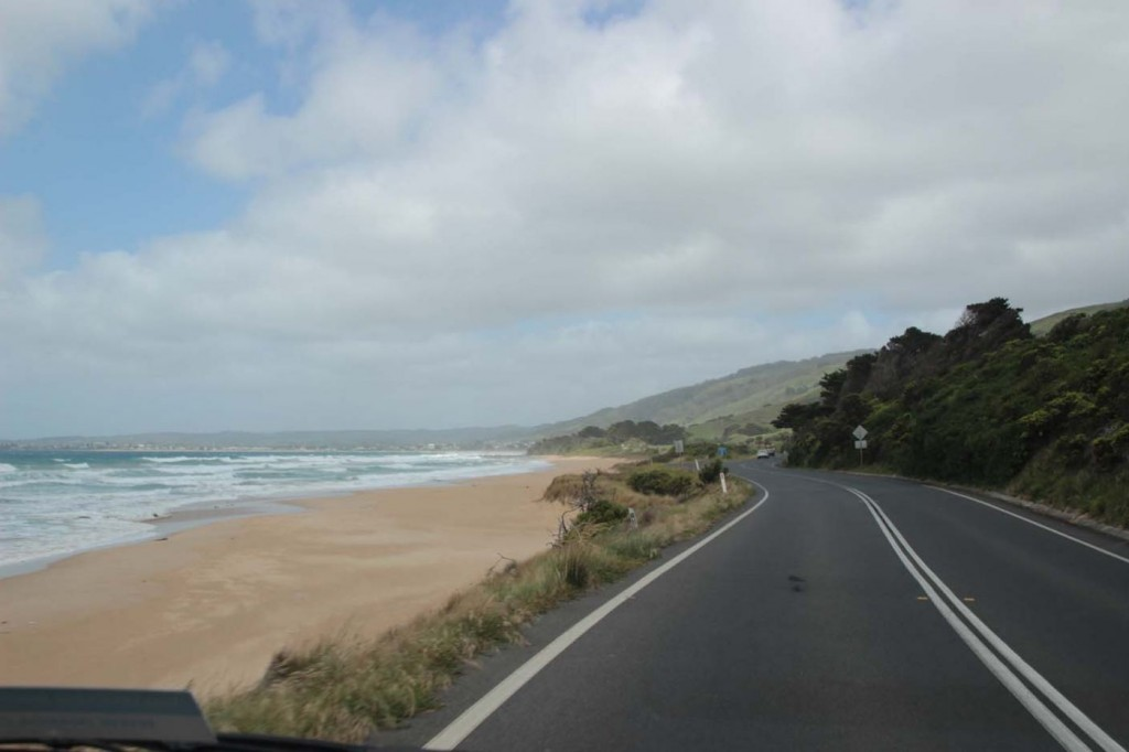 Die Great Ocean Route verläuft teilweise wirklich direkt am Ocean
